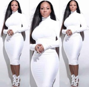 Erica Campbell-white dress-praise-houston