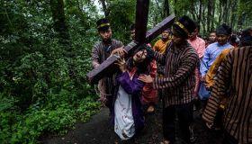 Indonesian Catholics Celebrate Good Friday
