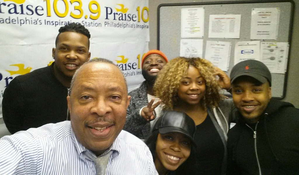 Livre at Praise 103.9 Philly in studio with Jerry Wells