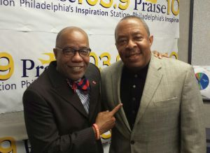 Praise 103.9's Jerry Wells with Michael Robinson from Temple University's Office of Community Outreach and Hiring