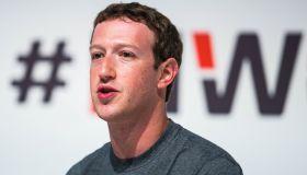 Mark Zuckerberg attendes Mobile World Congress 2015