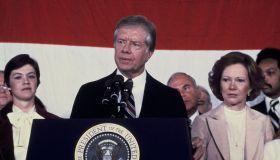 Usa, Washington, President Jimmy Carter At The Tribune