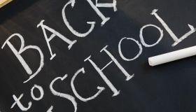 Blackboard reading back to school