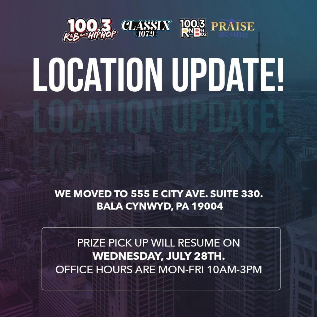 Location Update Radio One Philly 2021